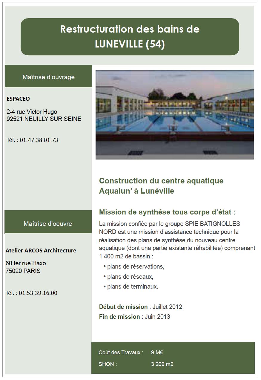 Restructuration des bains de Luneville