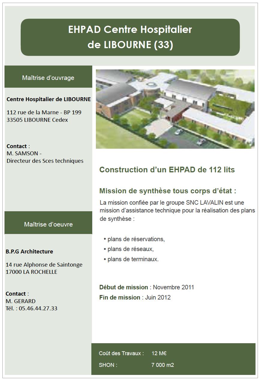 Construction d'un EHPAD à Libourne